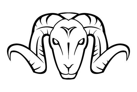 Twarz kozy Ilustracje wektorowe