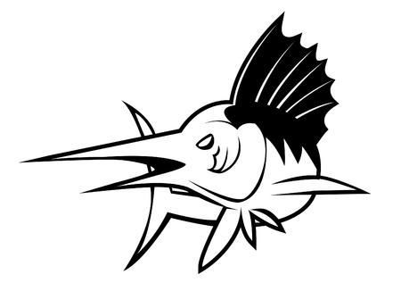 marline: marlin fish Illustration