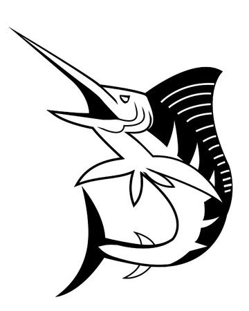 pez vela: aguja Vectores