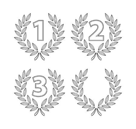 number laurel Stock Vector - 17444995
