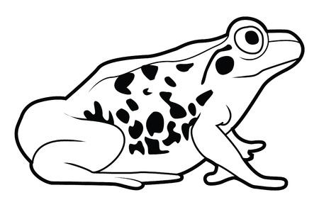 siluettes: frog sign Illustration