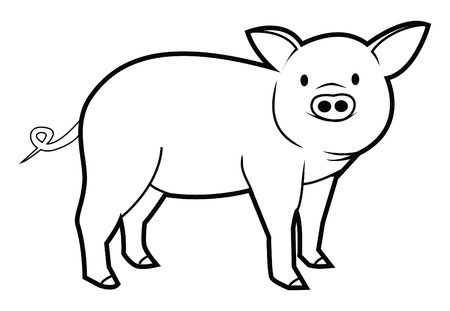 cochinos: cerdo Vectores