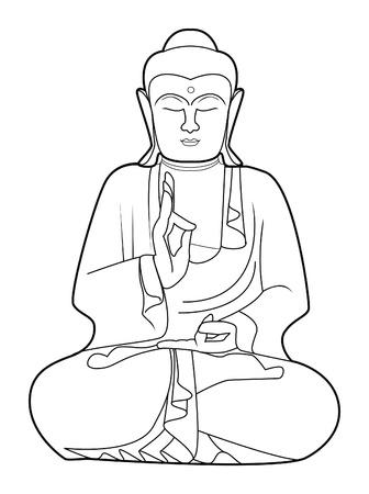 illustration technique: buddha Illustration