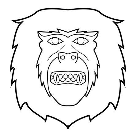monkey face Stock Vector - 17444688