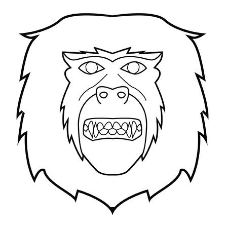 monkey face Stock Vector - 17444688