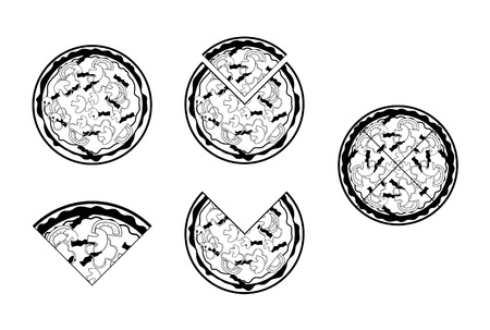 pizza Stock Vector - 17445088