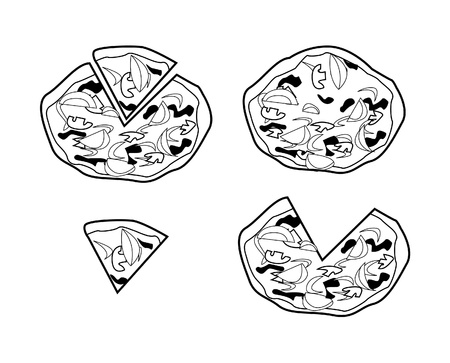 pizza topping Vector