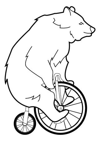 circus bike: oso ciclo