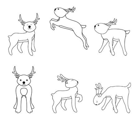 deer set Stock Vector - 17445053