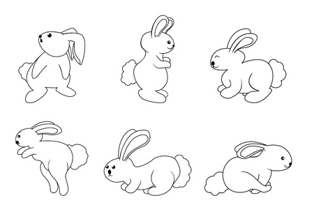 rabbit set Stock Vector - 17444846