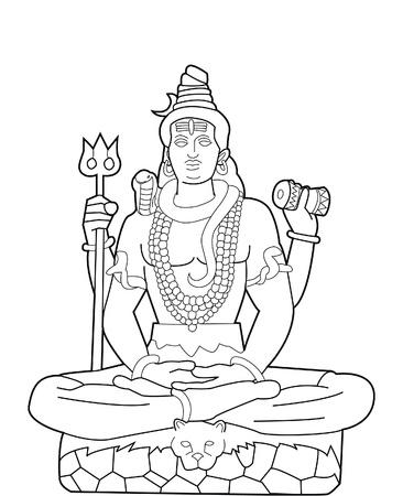God Shiva Vector