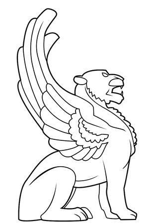 sculptures: lion wing