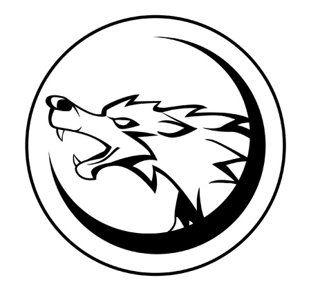 gray wolf black and white: wolf sign