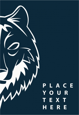 wolf face Stock Vector - 17444639