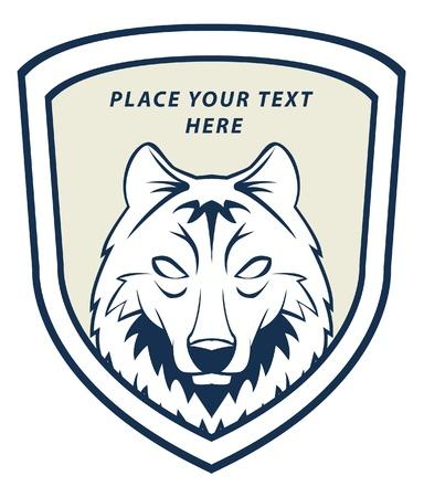 wolf face: wolf emblem Illustration