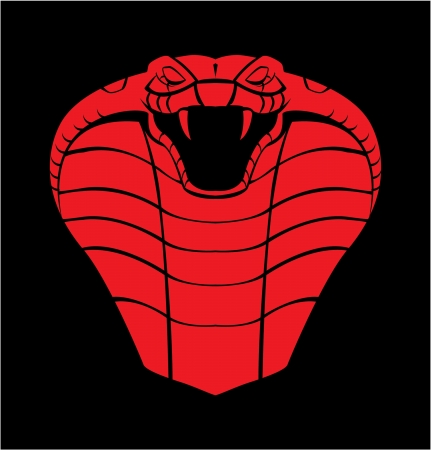 cobra: red black cobra Illustration