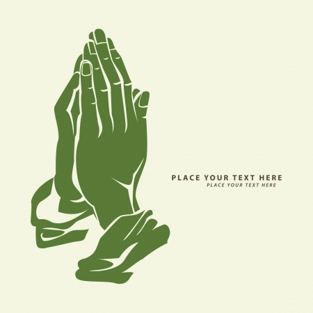 prayer: hope hand Illustration