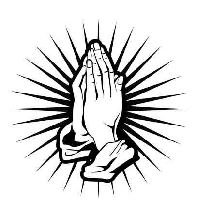 simbolos religiosos: espiritualidad mano Vectores
