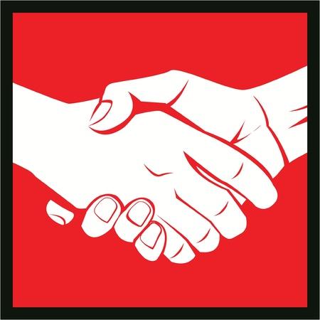 deal hand Stock Vector - 17444842