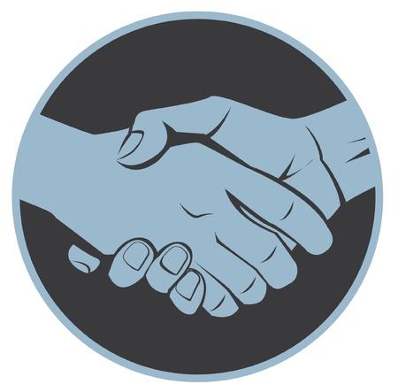 shake a hand Stock Vector - 17444885
