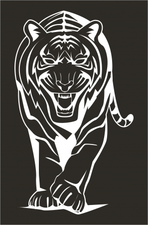 dark tiger Vector