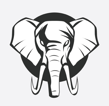 animal head: elephant symbol