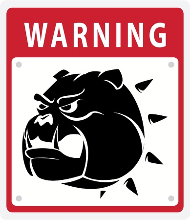dog warning Vector