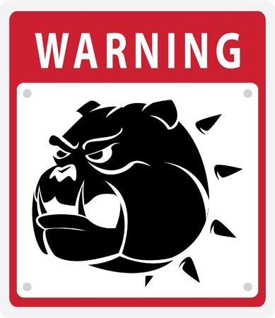 dog warning Stock Vector - 17444634