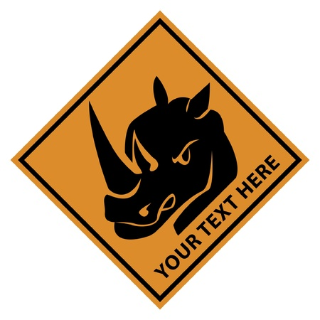 rhinoceros danger Vector