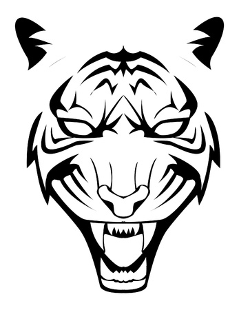 tiger face Stock Vector - 17444501