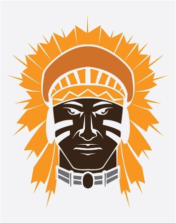 indian tribal headdress: apache mascot