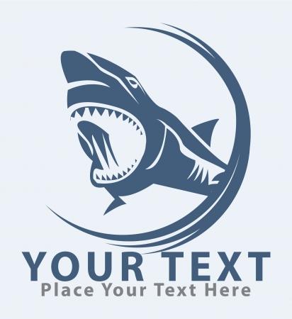 squalo bianco: squalo simbolo Vettoriali