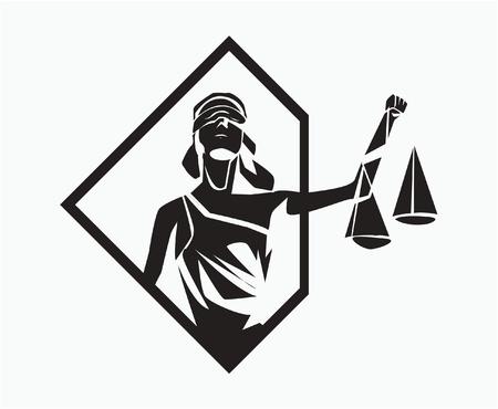 blind justice: themis symbol