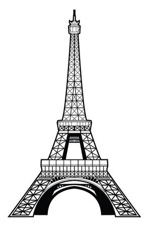 illustration technique: eiffel