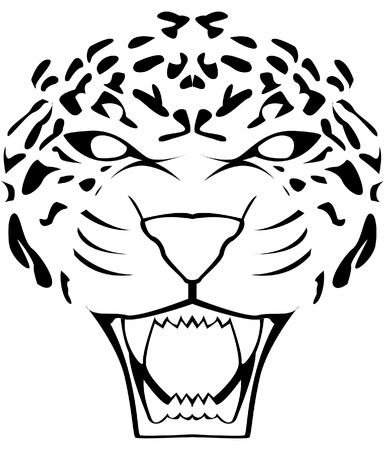 black leopard: leopard face