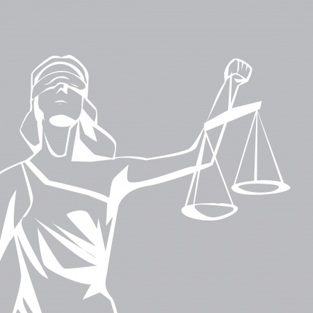 blind woman: lady justice