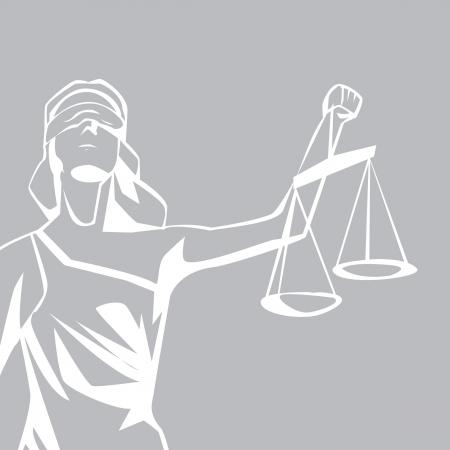 Vrouwe Justitia Vector Illustratie