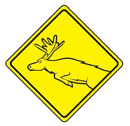 deer cross sign Vector