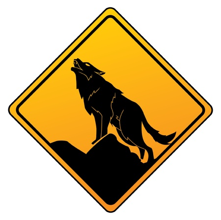 wolf warning Stock Vector - 17444724