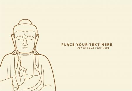 buddha tranquil: buddha Illustration