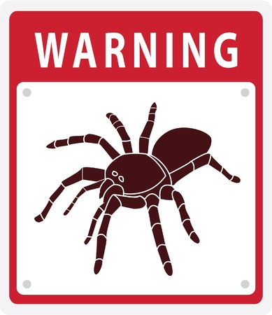 Warning Sign Spider Stock Vector - 17444659