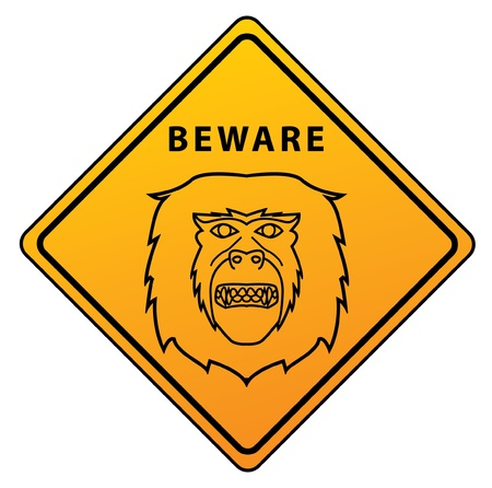 Monkey Sign Stock Vector - 17444780