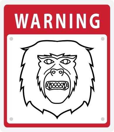 Monkey Warning Sign Stock Vector - 17444693