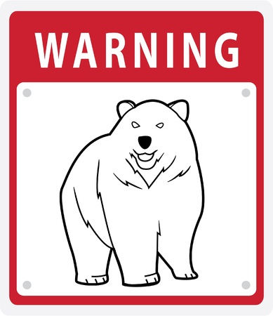 Bear Warning Sign Stock Vector - 17444652