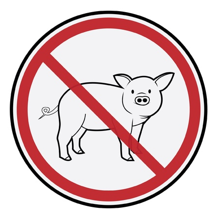 pandemia: Pig Sign Illustration