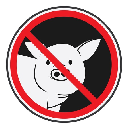 pig forbidden Vector