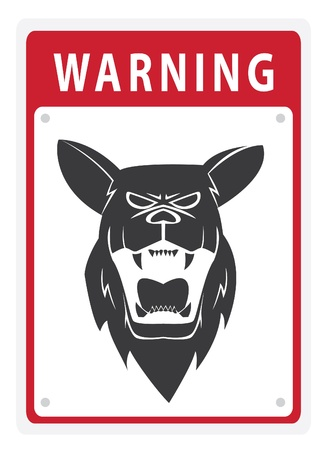 Warning Sign Shepherd Dog Stock Vector - 17444831
