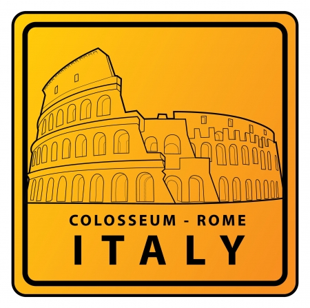rome collosseum Travel sign Stock Vector - 17492910