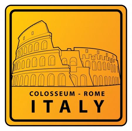 rome collosseum Travel sign Stock Vector - 17492910