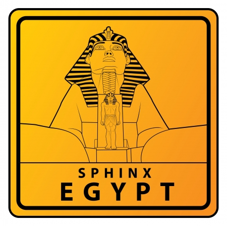 sphinx Travel sign Stock Vector - 17492914